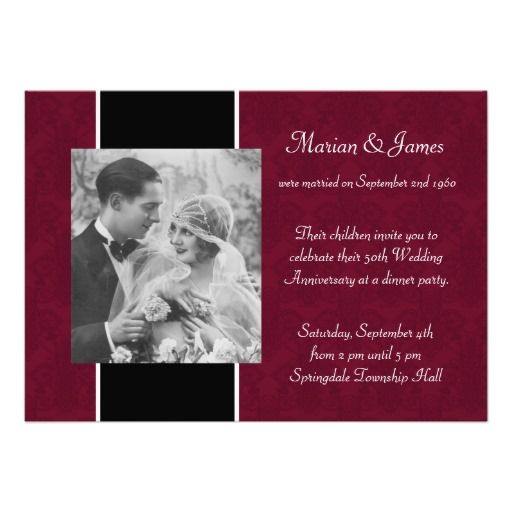 186 Best Images About Anniversary Party Invitations On Pinterest