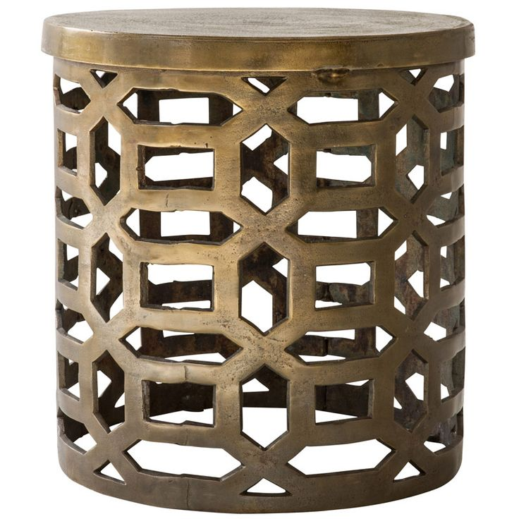 Geometric Table – Brass Price R3 495 Geometric Table – Brass      Overview     Details  Product Code:     ACCIND0946 Origin:     India Colour:     Brass Antiqued Finish:     Sandblast Material:     Aluminium Size:     L470mm | W470mm | H500mm Volume:     0.1249 m³