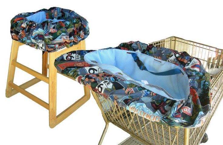 Route 66 Shopping Cart Cover / High Chair Cover