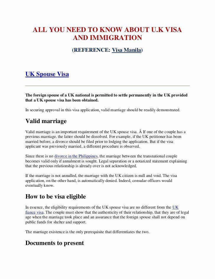 40 Support Letter Sample For Immigration Support Letter