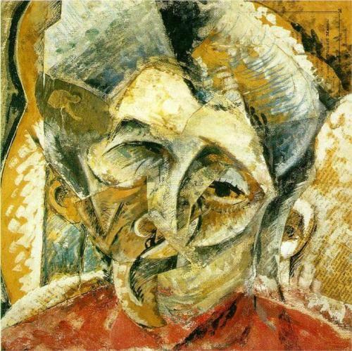 Dynamism of a Woman's Head - Umberto Boccioni