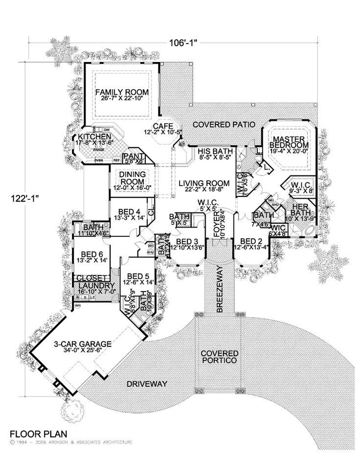 Large One Story Floor Plans | Click thumbnail image for larger version.