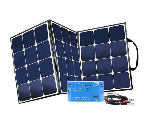 Kit panel solar plegable 105W con regulador de carga