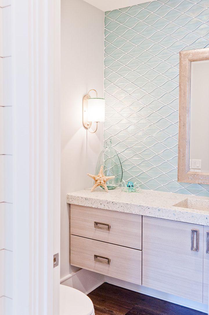 House of Turquoise: Dove Studio Beach House bathroom