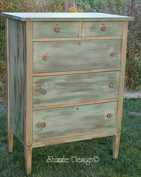 a little bit o' Shizzle: For Sale Antique Highboy painted in CeCe  Caldwell's Michigan - 476 Best A **Dressers & Chest-Of-Drawers Images On Pinterest