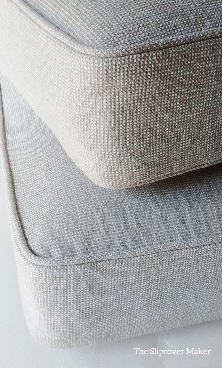 Love this casual farmhouse style fabric. It's a linen and cotton blend in color Oatmeal from Gray Line Linen.