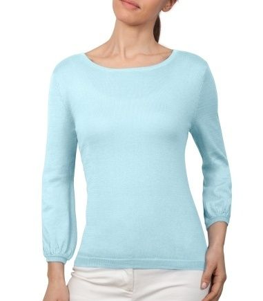 Wool Overs Womens Blouse Sleeved Jumper Spearmint