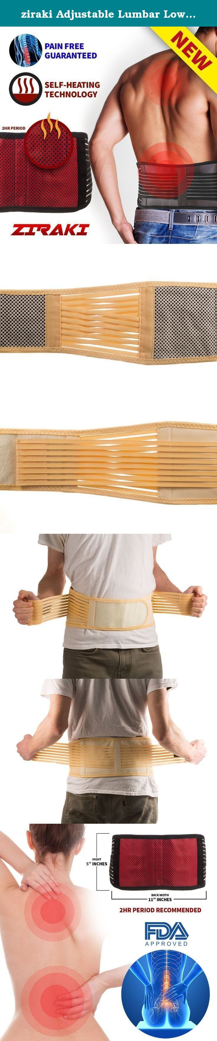 """ziraki Adjustable Lumbar Lower Back Support Brace, 3X-Large/40-46"""", Beige. The number of people who suffer from lumbar pain keeps on increasing over the years! It is the pain you feel from lower back and extends to your legs. There are a variety of reasons why people get this sickness • Strain muscles • Obesity • Pregnancy • Bending • Repetitive stooping • Smoking • Spinal problems It is one of the causes for many workers availing of sick leaves for days. Lumbar back pain is a sickness…"""