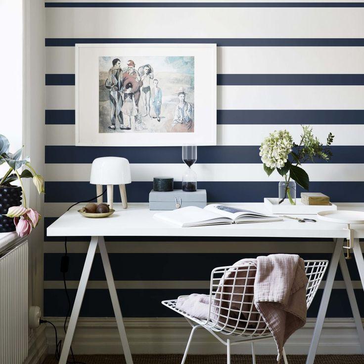 Fjordbyen Dark blue wallpaper by Studio Sandberg