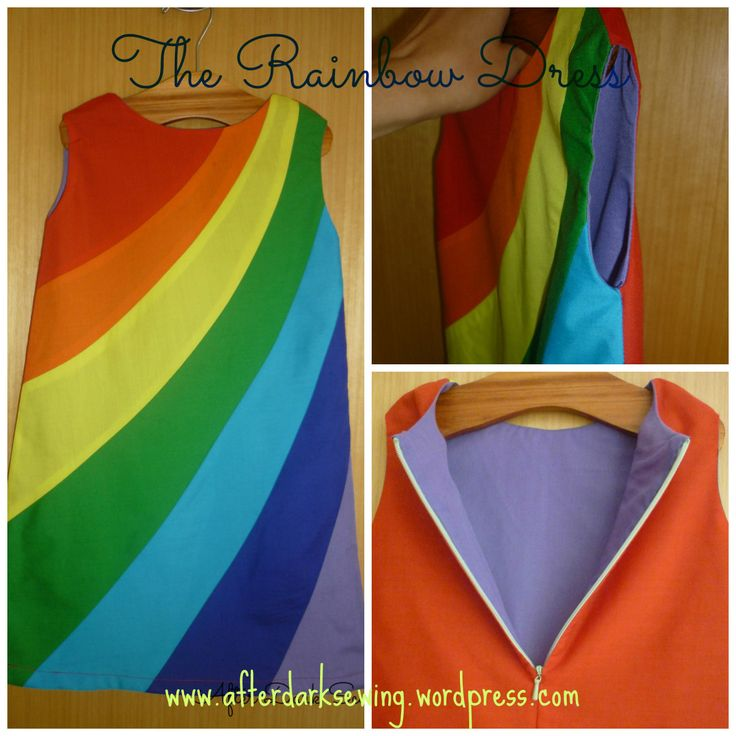 Little girls rainbow stripe dress tutorial! Love it!! <3