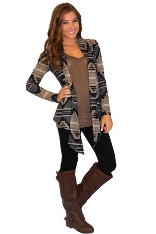 I would be interested to see what I look like in an Aztec Cardigan because of the intricate patterns.  cm