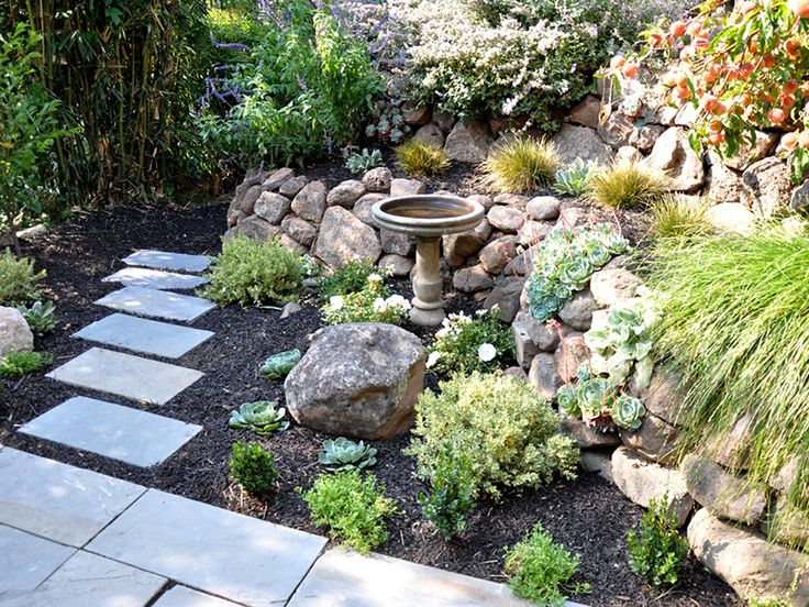 Basalt Rock Gardening : Best images about low retaining walls and steps on