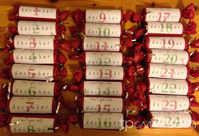 An Unconventional Advent Calendar - mini alcohol bottles OR wine!