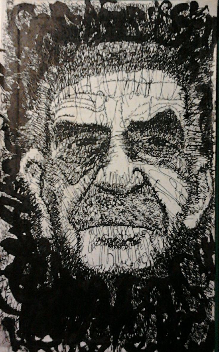 gabriel garcia marquez ink on bookcover