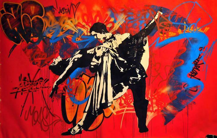 Blek le Rat street artist and art .