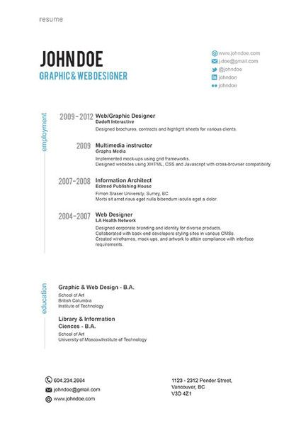 47 best Resume images on Pinterest Resume, Resume design and - interview resume