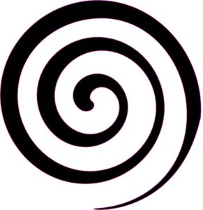 Black Spiral Lollipop  Clip Art