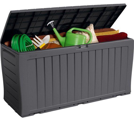 Buy Keter Wood Effect Garden Storage Box   Grey at Argos co uk Best 20  Plastic garden storage box ideas on Pinterest   Plastic  . Outside Storage Bins Uk. Home Design Ideas