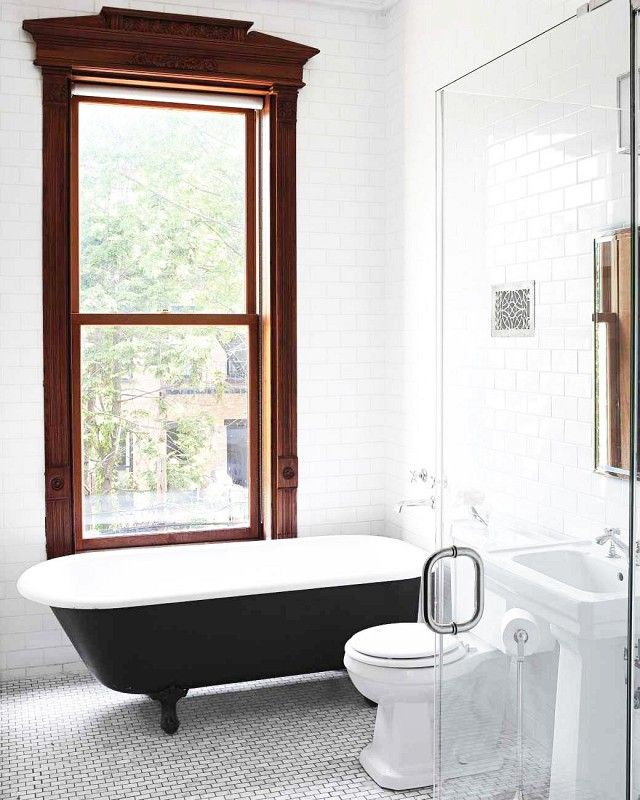 Bathroom with a freestanding tub