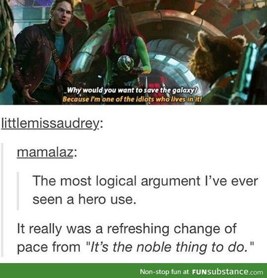 Most Logical Argument / Guardians of The Galaxy