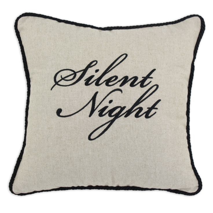 Silent Night' 17-inch x 17-inch Corded Throw Pillow