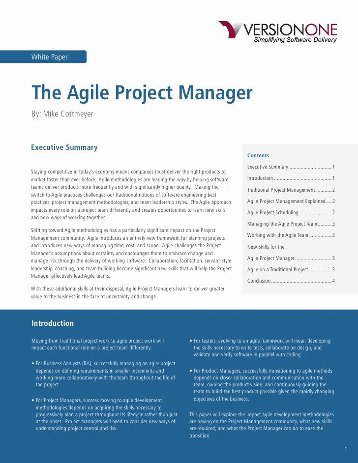 Agile Project Manager Resume New Agile Project Manager Project Manager Resume Manager Resume Good Resume Examples
