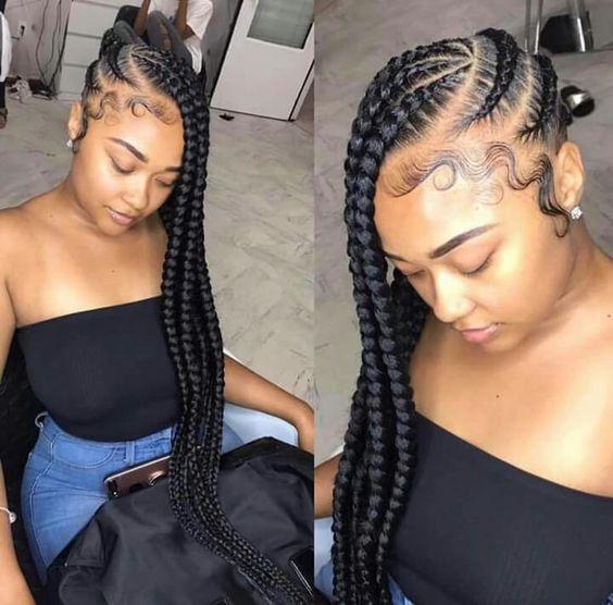 big lemonade braids hairstyle