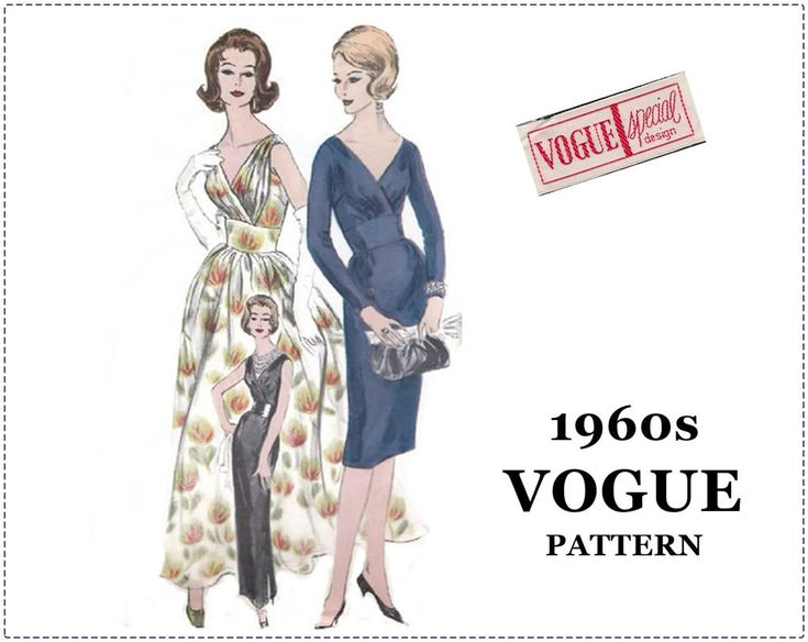 1960s Vogue Special Design Pattern - Vogue 4160 - Evening Dress, Special Occasion, Cocktail Dress - Size 14, Bust 34 - UNCUT - Sew In LABEL by EightMileVintageSews on Etsy