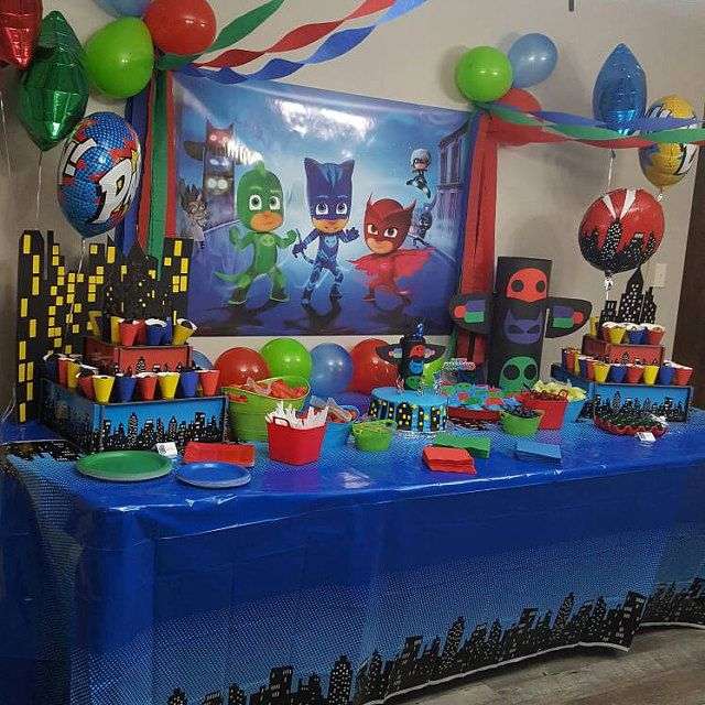 Pj Mask Party Decorations Beauteous 54 Best Pj Masks Party Images On Pinterest  Mask Party Birthdays Design Ideas