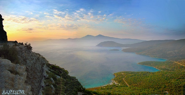 sunrise, Samos, Greece