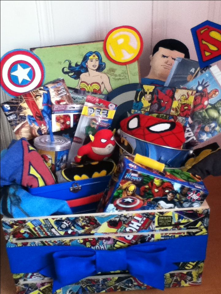 Super Hero Themed Gift Basket Easter Themed Gift