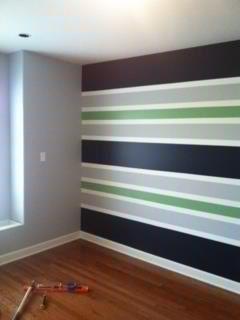 Striped boys room