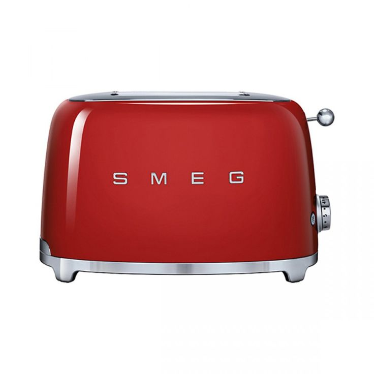 Smeg 2-Slice Toaster - Red | A beautiful 50s inspired Smeg toaster, makes a great addition to anyones kitchen!