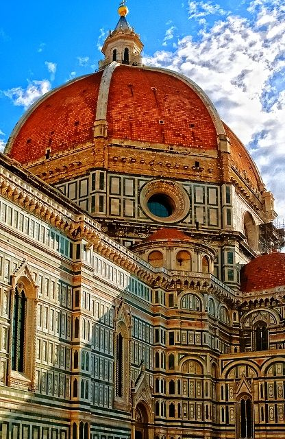 Duomo Firenze, Italy Took a shortcut through the Piazza every day for a year, while I was teaching English at Berlitz there. I loved Florence. Birthplace of the Italian Renaissance, no other country comes close in Renaissance art.