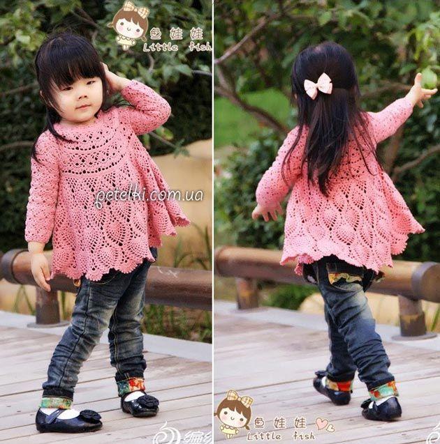 Детская туника с длинным рукавом. Схемы