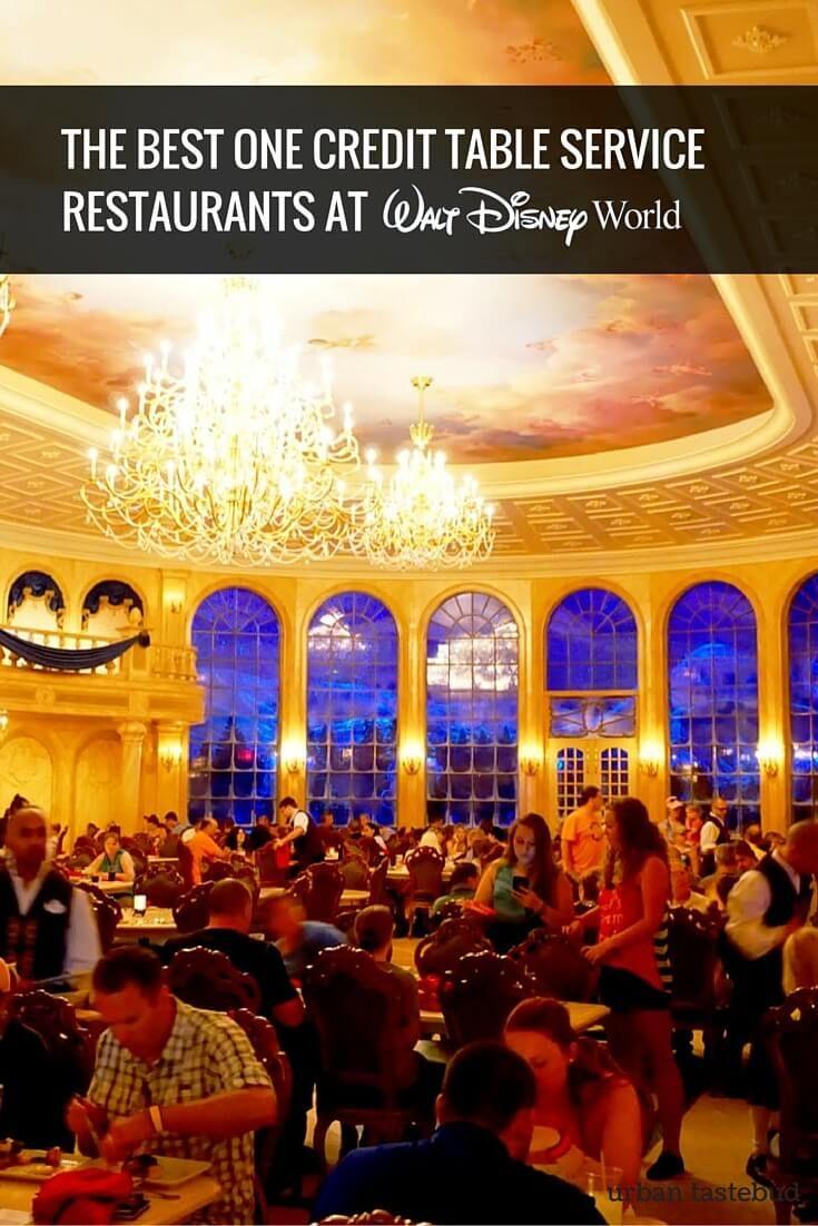 Best One Credit Table Service Restaurants at Walt Disney World