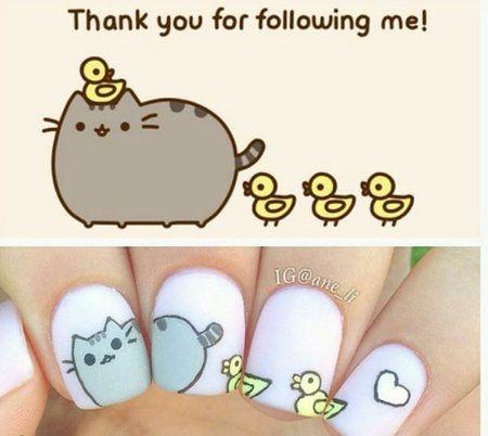 Emoji nails #Cutemani #chickmani #whitenails #nailart IG'er ane_li