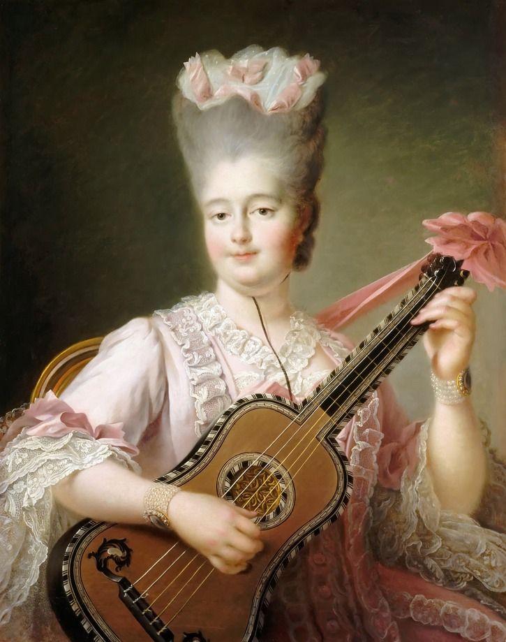 1773 - Clotilde de France, reine de Sardaigne by Francois-Hubert Drouais
