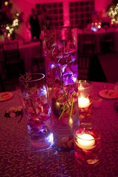 Orchids submerged in water centerpieces wedding ideas