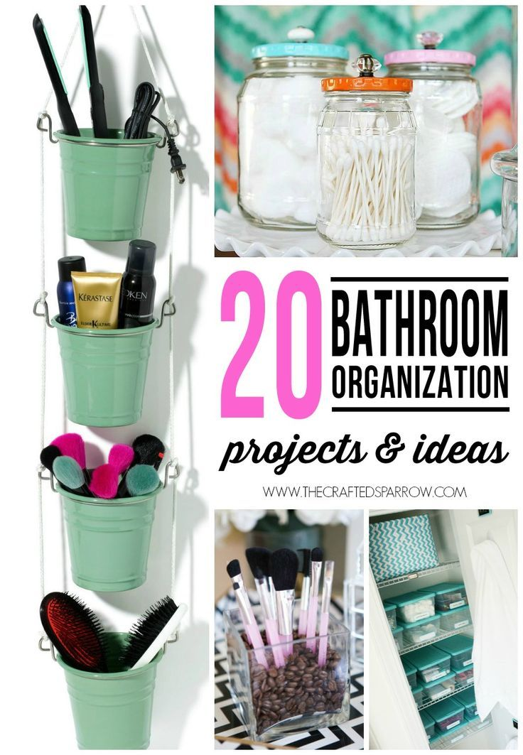 It's time to get that bathroom in order, start with one of these 20 Bathroom Organization Projects & Ideas!
