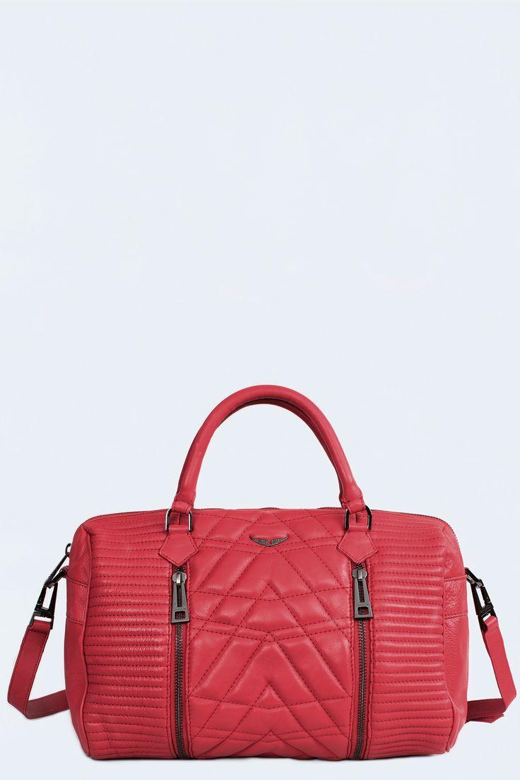 Sunny Matelasse Bag, red, Zadig & Voltaire