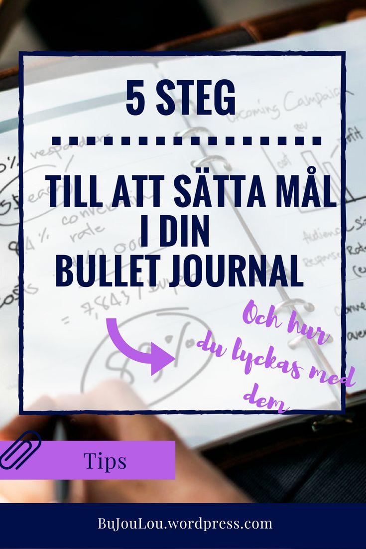 5 punkter för att hjälpa dig sätta dina mål och tänka långsiktigt! #bujo #bulletjournal #svenska #blogg #kalender