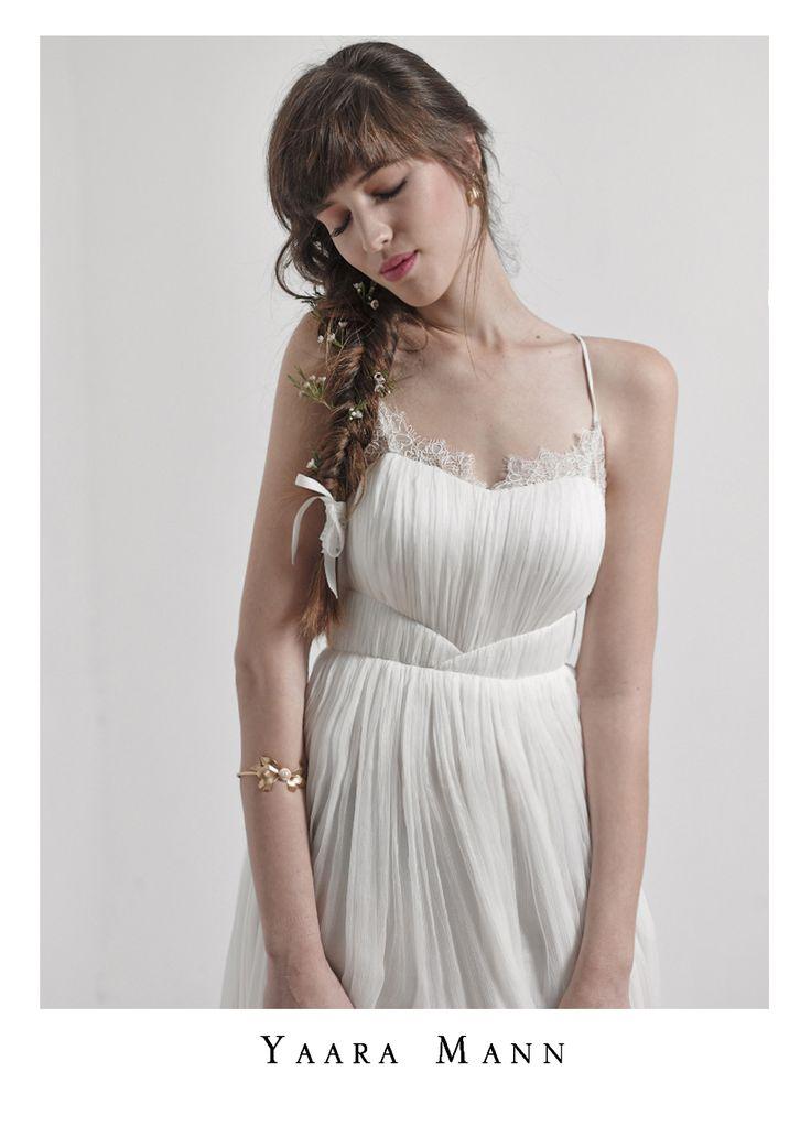 """Athena"" wedding dress from Yaara Mann's collection 2014.  100%silk, soft touch and feel like an angel :) www.yaaramann.com"