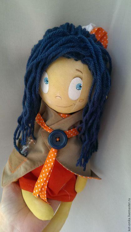 Куклы тыквоголовки ручной работы. Ярмарка Мастеров - ручная работа. Купить Кукла Девочка и Море. Handmade. Тёмно-синий, девочка