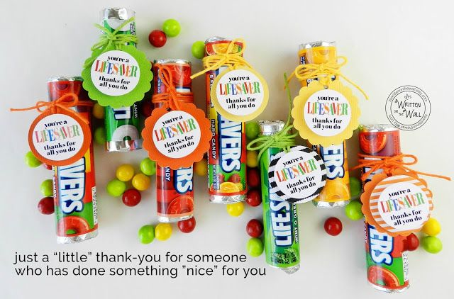 You're a LIFESAVER—Thanks For All You Do! Fun Appreciation Treat Gifts and Super Simple