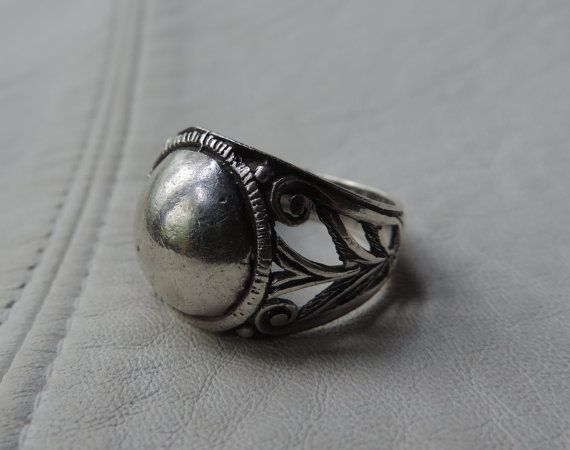 sterling silver dome ring by allfabulous on Etsy