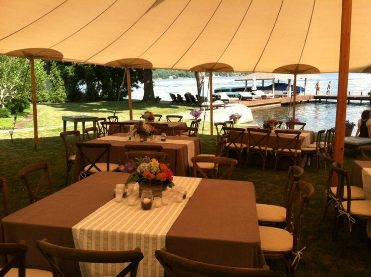 Sperry Tent Square Table And Napa Chair Rentals