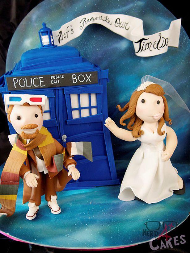 Romántico pastel de la Tardis de Doctor Who