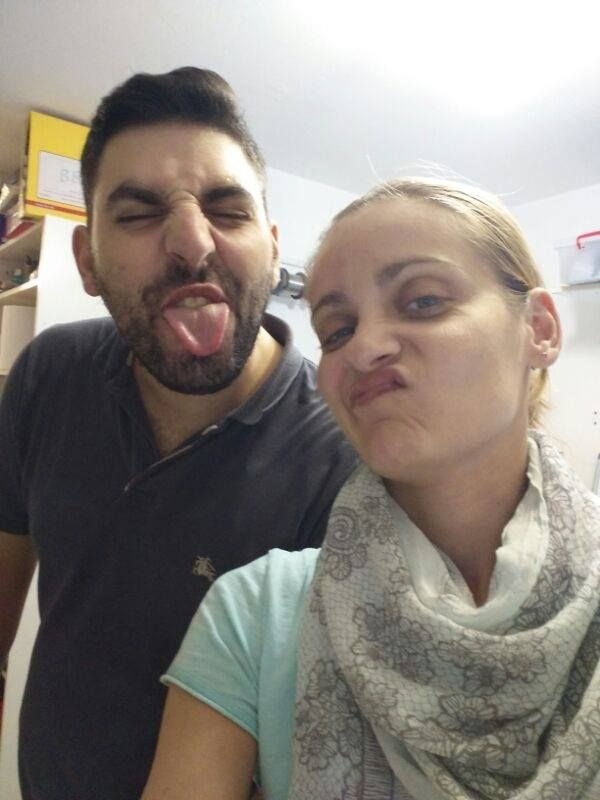 Tasos and Irene, so proud for them...