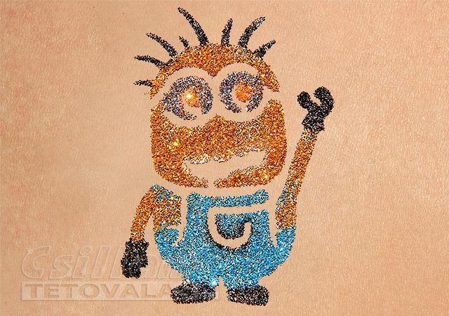 Minion csillámtetoválás sablon  #csillámtetoválás #glittertattoo #tytoo #minion